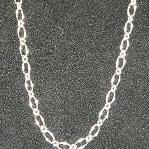 Jewelry - Elegant Oval Link Lady's Necklace Sterling Silver